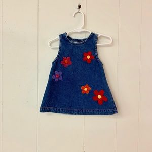 Youngland infant denim dress with flowers